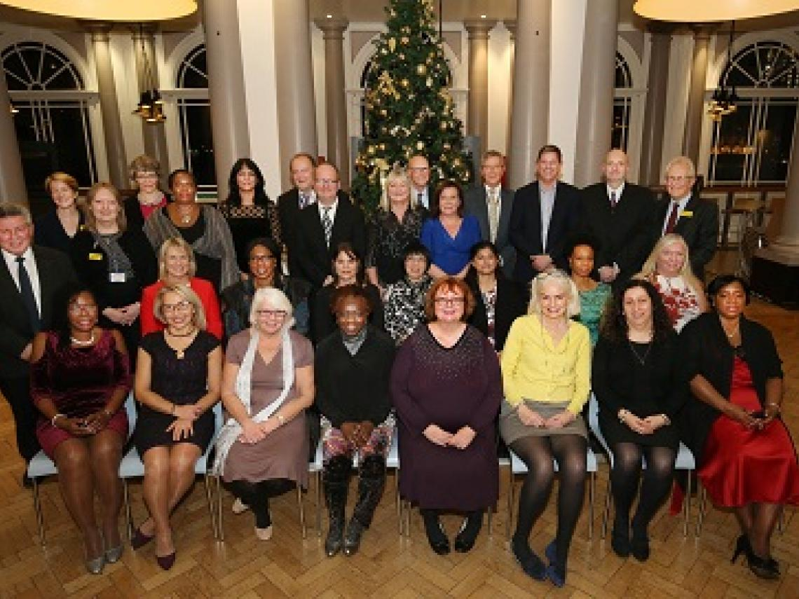 The members of staff who were celebrated at the Long Service Awards with Chairman Sir Hugh Taylor and Chief Executive Amanda Pritchard.